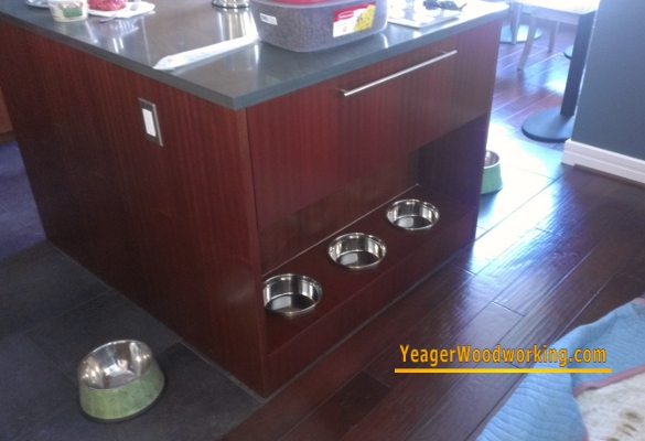 cabinet with built in dog bowls
