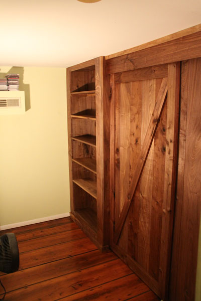 Walnut Wall and Bookcase