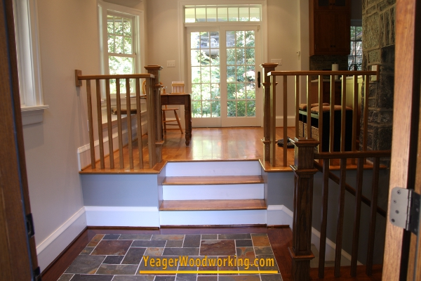 White Oak Handrail, Newels And Balusters