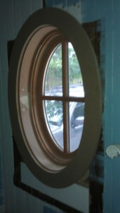 oval window with simple casing
