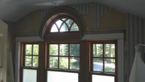 picture window with half round trim