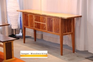 Mahogany and Figured Sycamore Sideboard