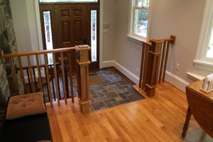 Oak Handrail, Newel Post and Ballusters