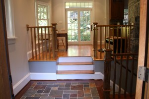 Oak Handrail, Newel Post and Ballusters