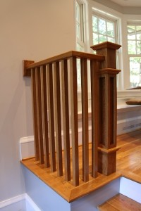 Oak Handrail, Newel Post and Balusters