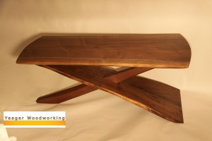 Cantilever Coffee Table in Black Walnut