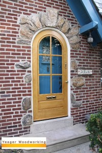 Round Top Wood Storm Door