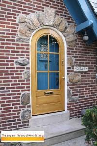 Round Top Wood Storm Door